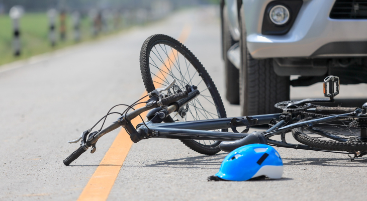 Bicycle and Motorcycle Accident