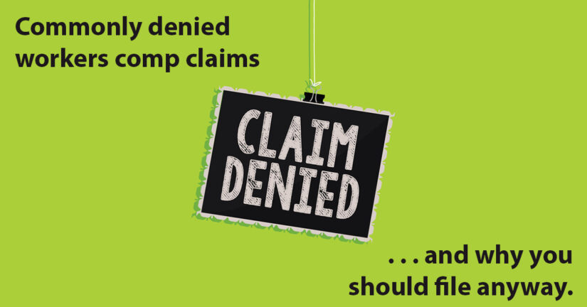 workers compensation claims denied